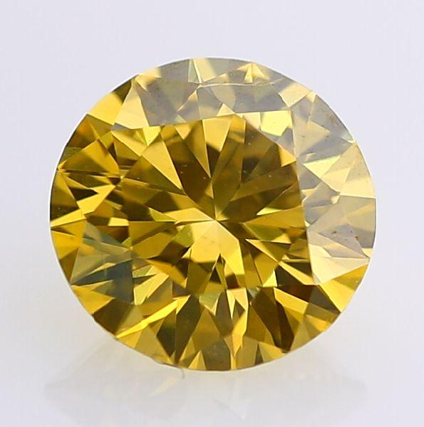 Round Brilliant Cut Yellow Moissanite Diamond