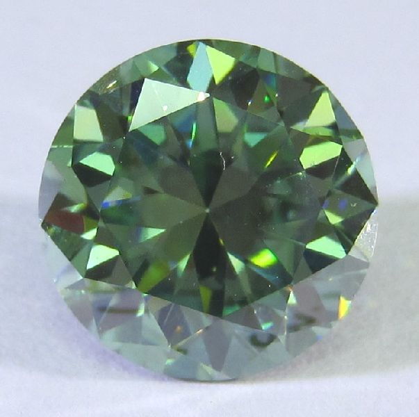 Round cut Green Moissanite Diamond