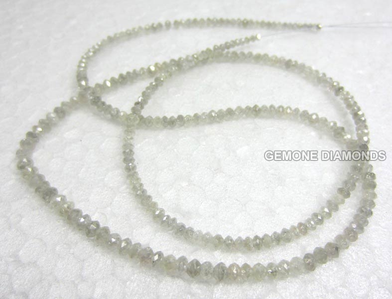 White Diamond Beads Necklace