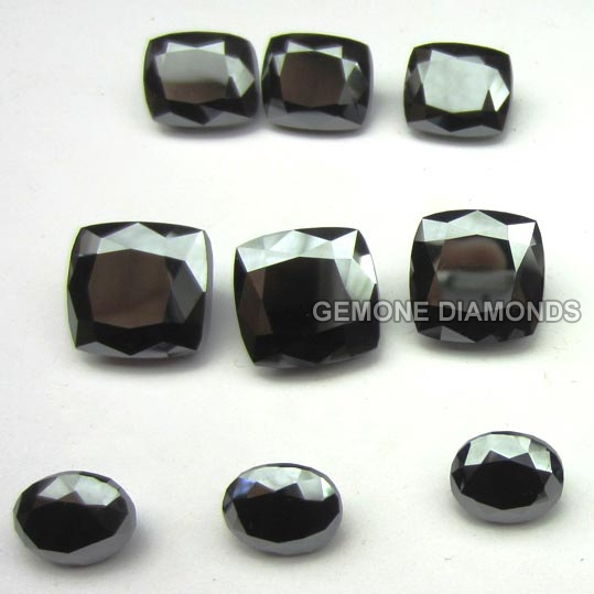 Black Moissanite Gemstones