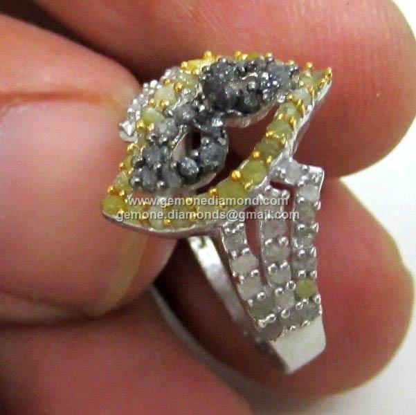 Uncut Designer Diamond Rings