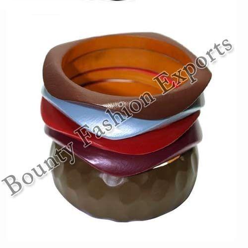 Multi Colour Wooden Bangle Set