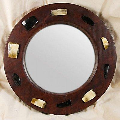 Wooden Horn Mirrors