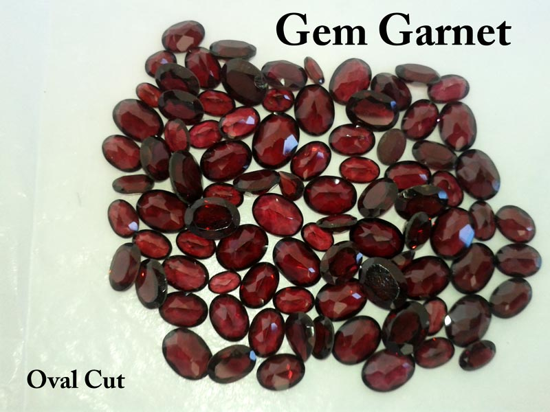 Oval Cut Garnet Gemstone
