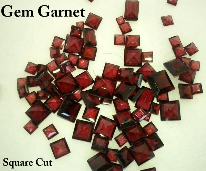 Square Cut Garnet Gemstone