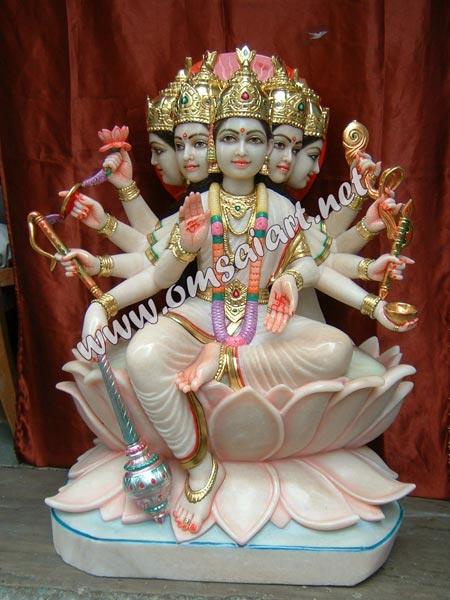 Marble Gayatri Mata Statue