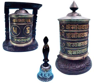 Brass Prayer Wheels