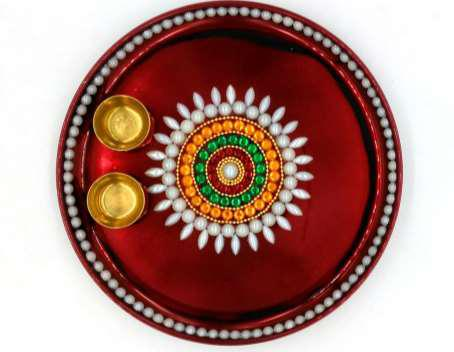 Decorative Pooja Thali 02