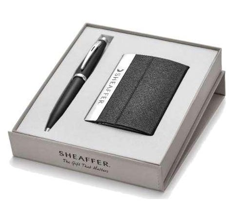 Sheaffer Business Card Holder With Pen
