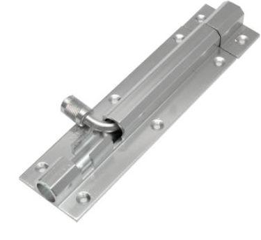 Aluminium Plain Tower Bolts With Aluminium Rod (006)