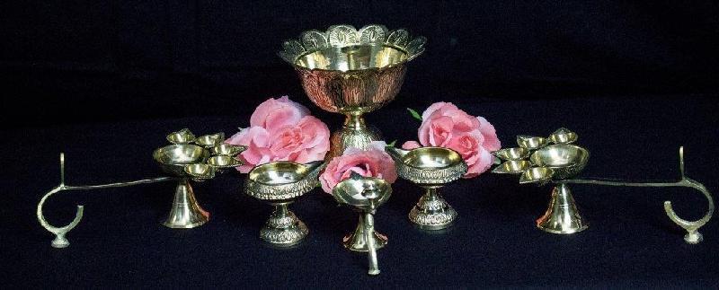 Decorative Metal Diyas