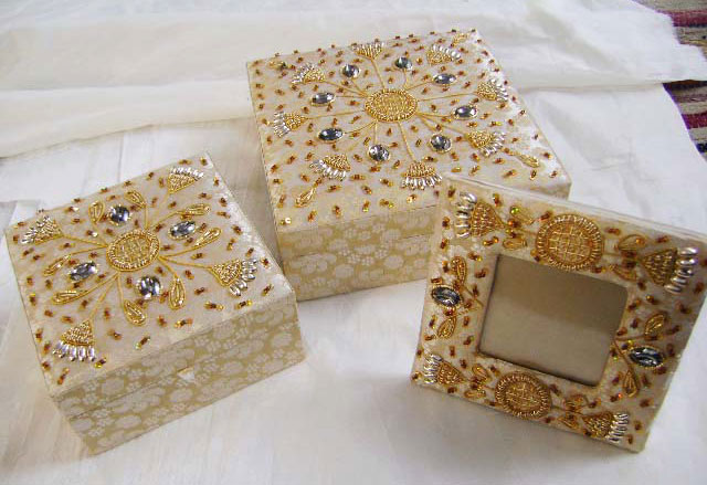 Decorative Beaded Boxes 01