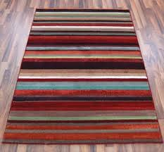 Multi Striped Chenille Rugs