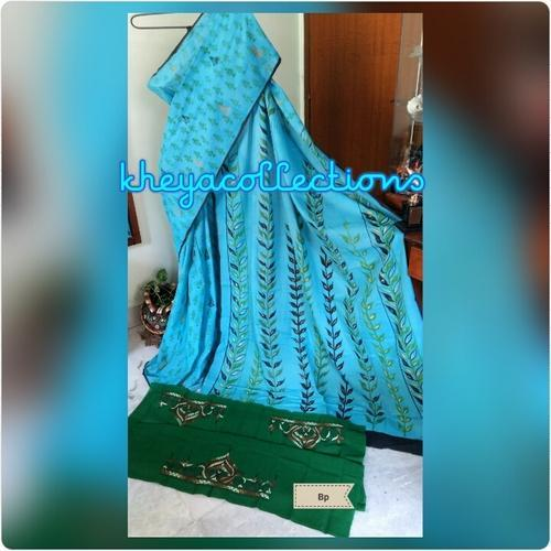 Block Printed Mulmul Cotton Sarees