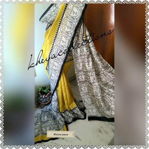 Block Printed Murshidabad Silk Saree 01