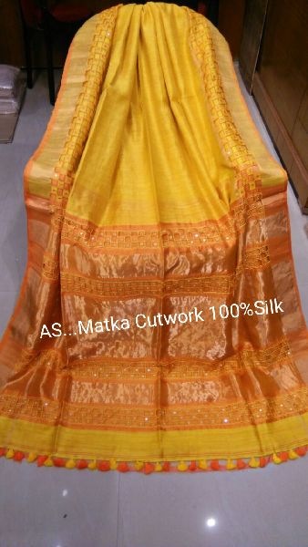 Cutwork Embroidered Mukta Silk Sarees