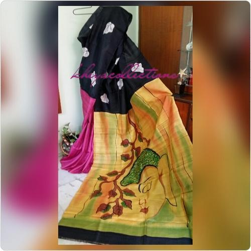 Hand Painted Bishnupur Silk Saree 03