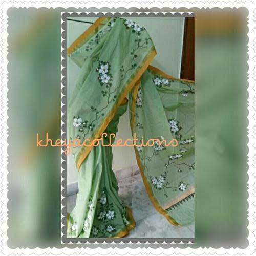 Hand Painted Kerala Cotton Saree 01
