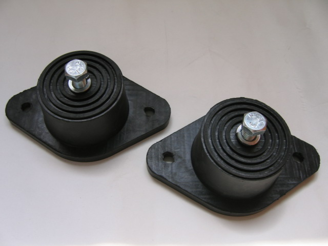 Rubber in Shear Mounts