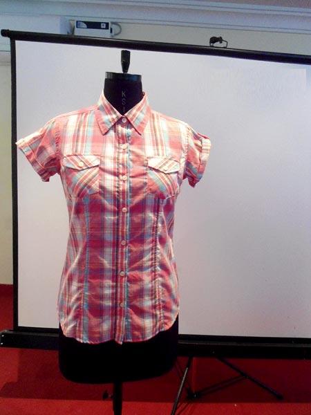 Ladies Cotton Half Sleeve Shirts