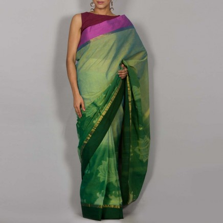 Cotton Shibori Saree 01