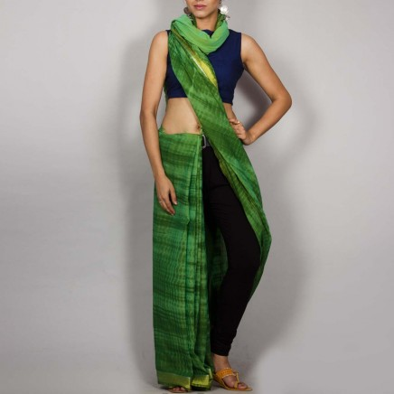 Cotton Shibori Saree 02