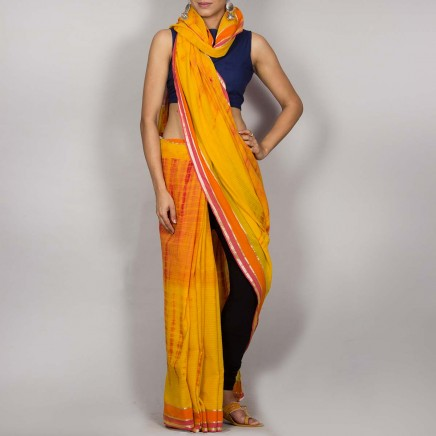 Cotton Shibori Saree 04