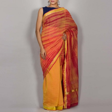 Cotton Shibori Saree 05