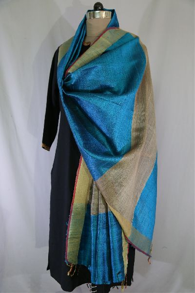 Dupion Silk Multi Color Dupattas 12