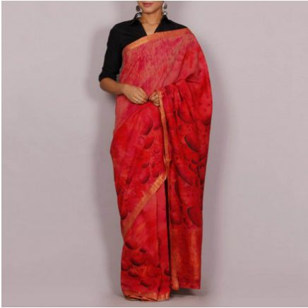 Hand Painted Handloom Cotton Saree 01
