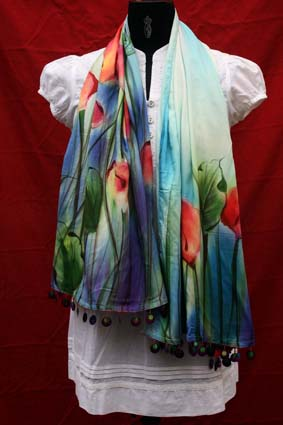 Hand Painted Stole 03