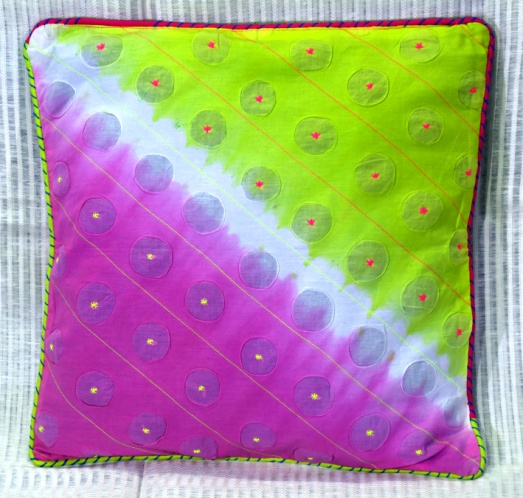 Shibori Cotton Cushion Cover 02