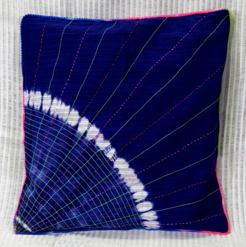 Shibori Cotton Cushion Cover 03