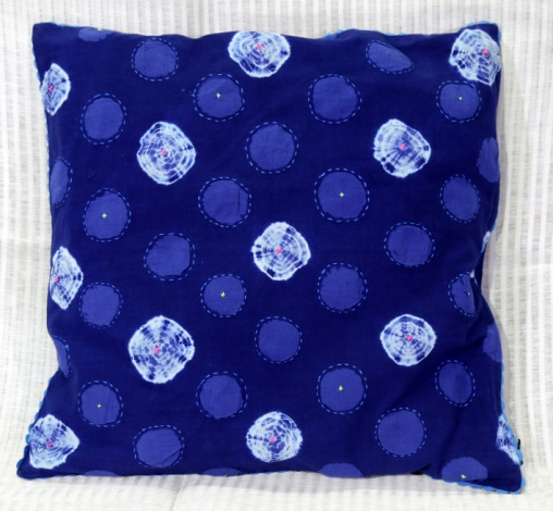 Shibori Cotton Cushion Cover 04
