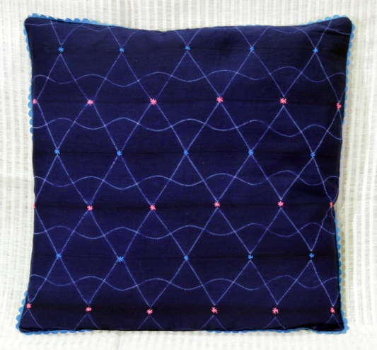 Shibori Cotton Cushion Cover 06