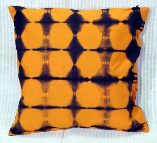 Shibori Cotton Cushion Cover 09