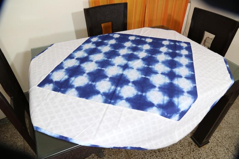 Shibori Cotton Tablecloth 01