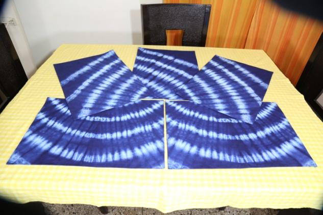 Shibori Cotton Tablecloth 03