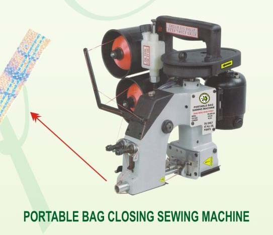 Portable Bag Closer Machine Double Thread