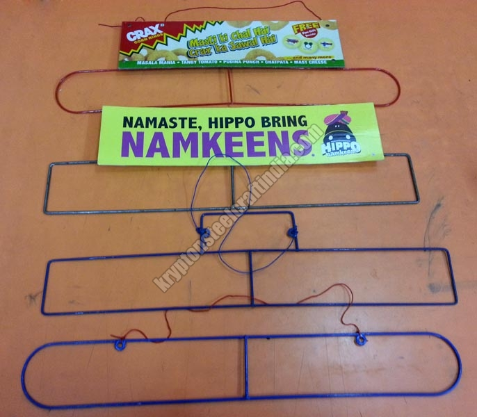 Metal Wire Snacks Pouch Hanger