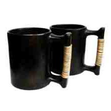 Black Stone Beer Mugs
