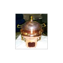 Copper Chauffing Dish Maharaja Style