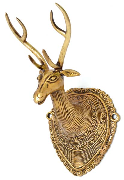 Brass Deer Head Wall Hangings