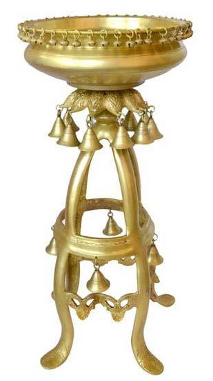 Brass Urli On Stand
