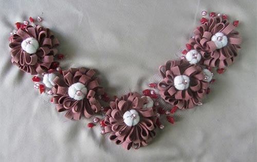 Fancy Embroidery Ribbon Work