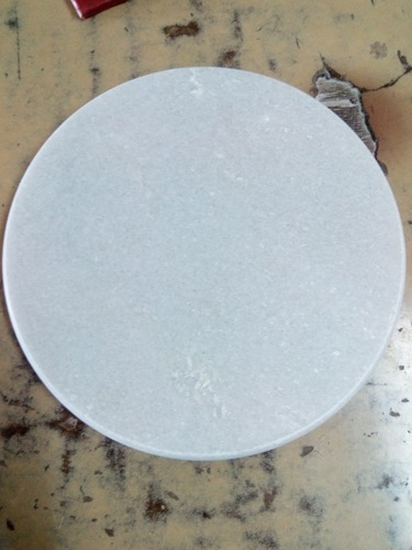 10 Inch White Marble Chakla
