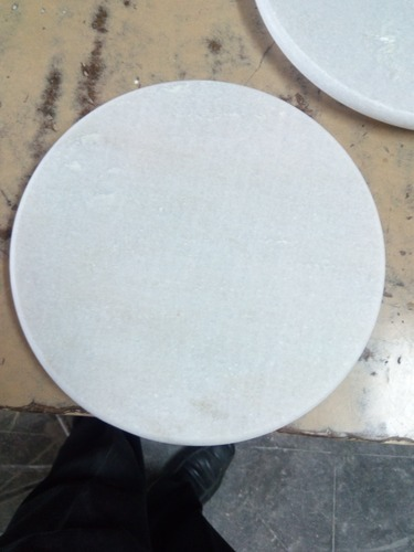 9 Inch White Marble Chakla
