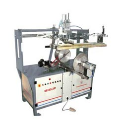 Semi Auto Bucket Round Screen Printing Machine