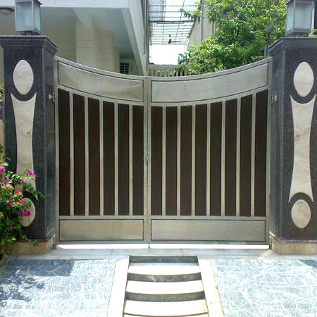 Stainless steel gates stainless steel driveway gate supplier for Stainless steel driveway gates designs