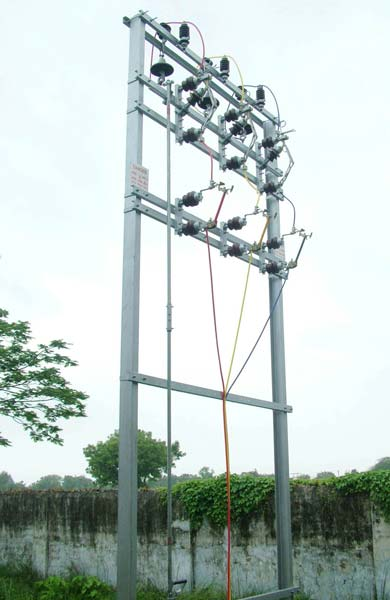 Double Pole Structure Manufacturer Supplier In Ahmedabad India